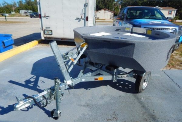 Galvanized Trailer Made by Magic Tilt