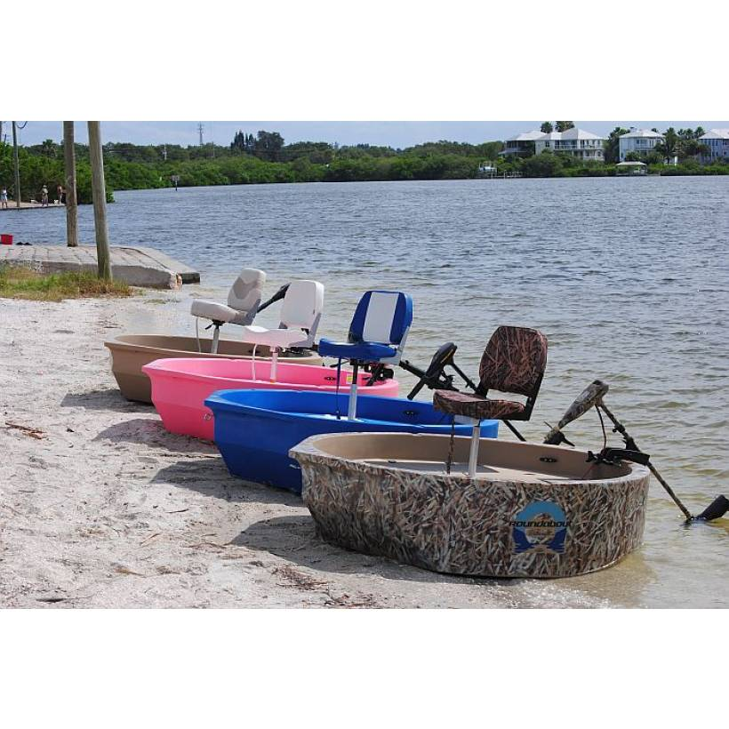 Roundabout woodsman one or two man hunting boat round boats for Round fishing boat