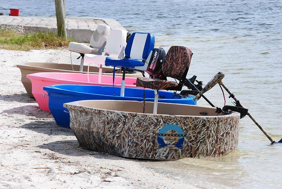 Round boat roundabout round skiff ultra shallow one or for Circle fishing boat