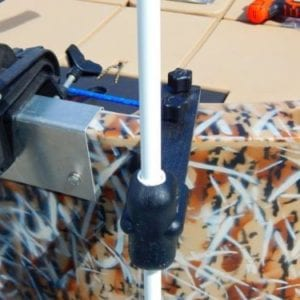 This is the product view of all the parts with the wang anchor bow mounting bracket and the wang anchor itself