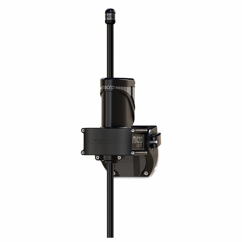 This is a product view of the power pole micro anchor from the back