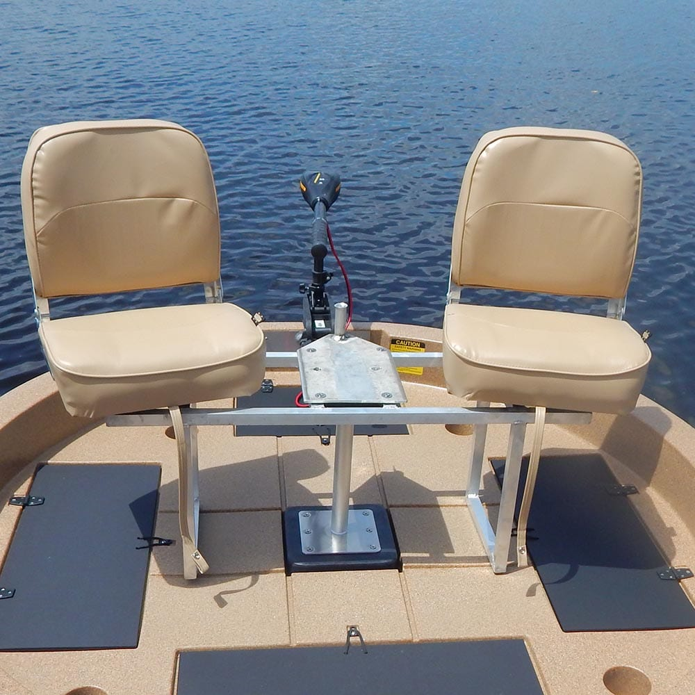 This shows a two seat option available on the round boats from Roundabout Watercraft's.