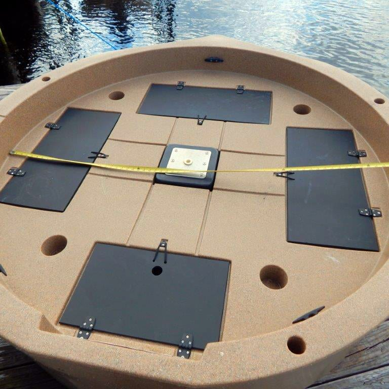 roundabout watercrafts flat deck space